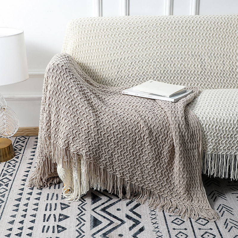 Durable Cross-Border Knitted Sofa Blanket for Staying Warm