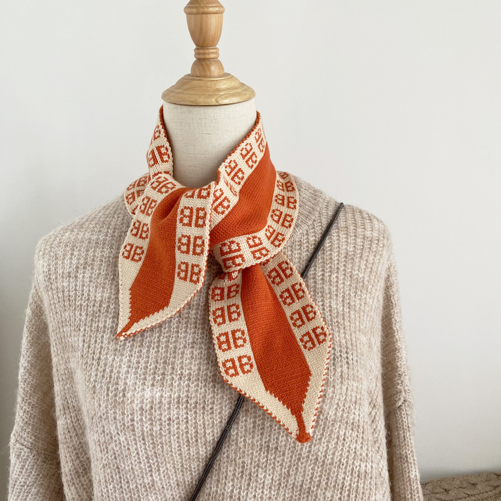 Stylish Double-Knitted Scarf for Winter Attires
