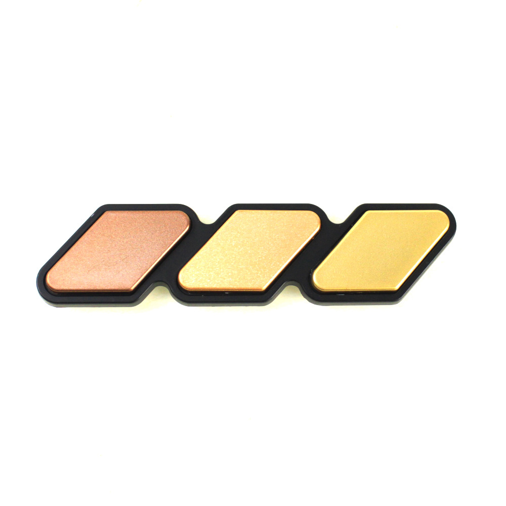 Embossed Three-Color Decal Sticker for Car Labels