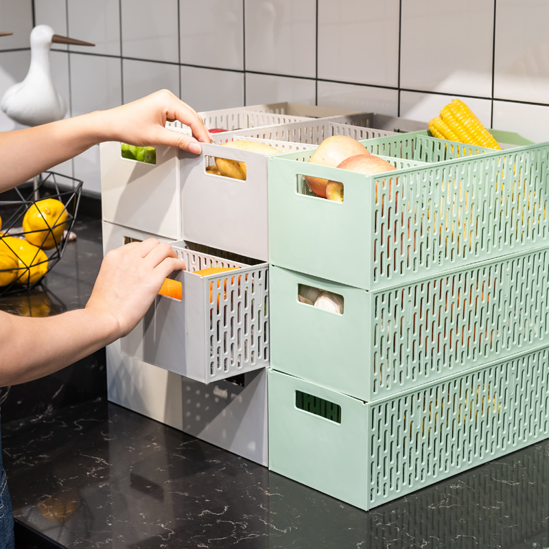Stackable Storage Box Drawer for Storing Bathroom Items and Kitchen Items