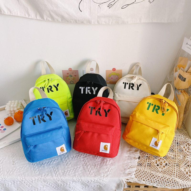 Vibrant Oxford Cloth Backpacks for Primary School Children