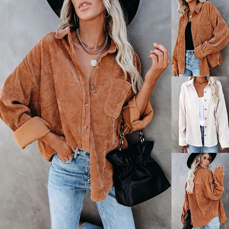 Achromatic Baggy Long Sleeve Semi-Spread Collar Button-Up for Friend Get-Togethers
