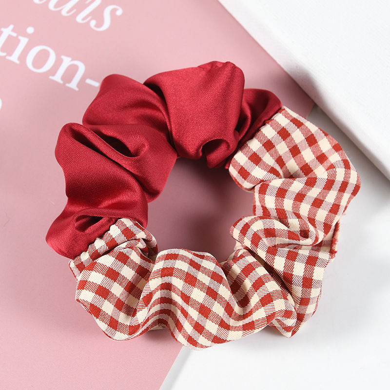 Stylish Dual Pattern Scrunchie for Conventional Updos