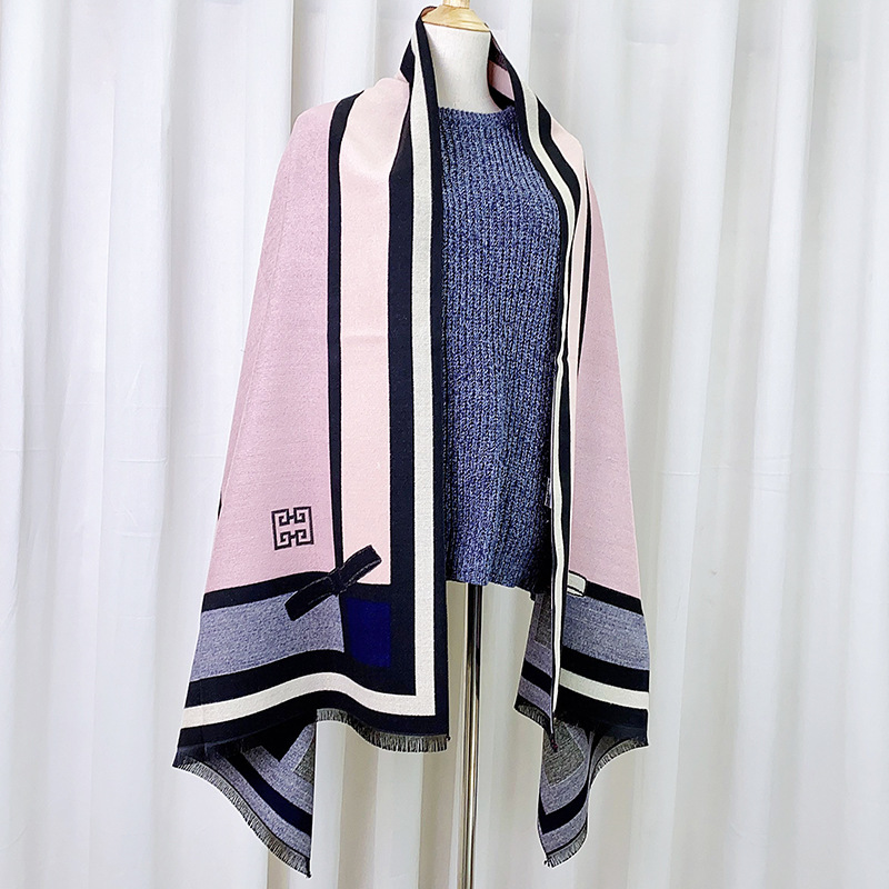 Thick Dual-Use Shawl Scarf for Fashion Style