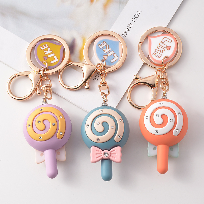 Chic Lollipop with Ribbon Keychain for Bag Accessories