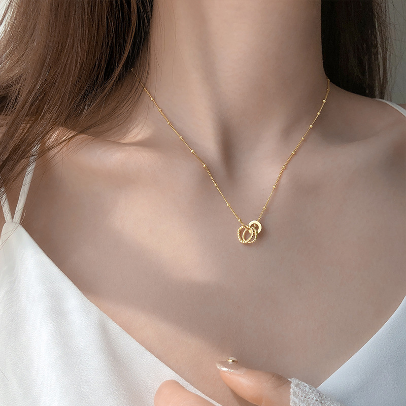 Gorgeous Ring Pendant Chain Necklace for Everyday Wear