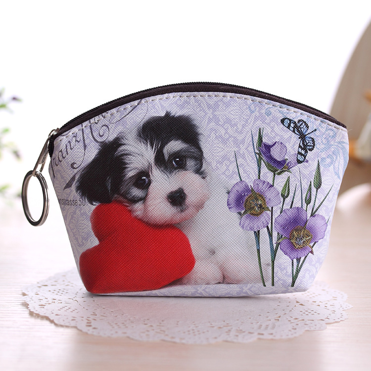Printed Irresistible Cats and Dog Coin Purse for Pet Lovers