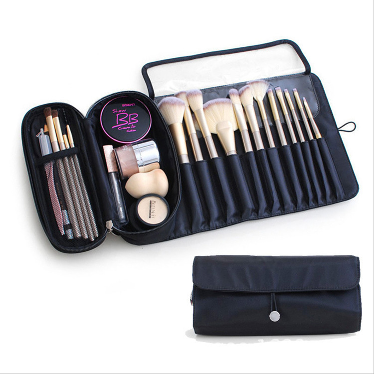 Multiple Compartment Make-Up Brush Pouch for Travelling