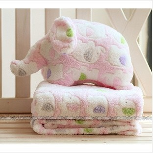 Two-in-One Elephant Pillow Quilt