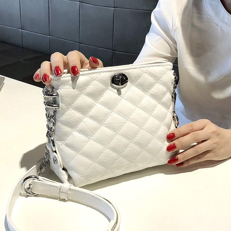 Quilted Twisty Lock Shoulder Bag for Keeping with the Trends