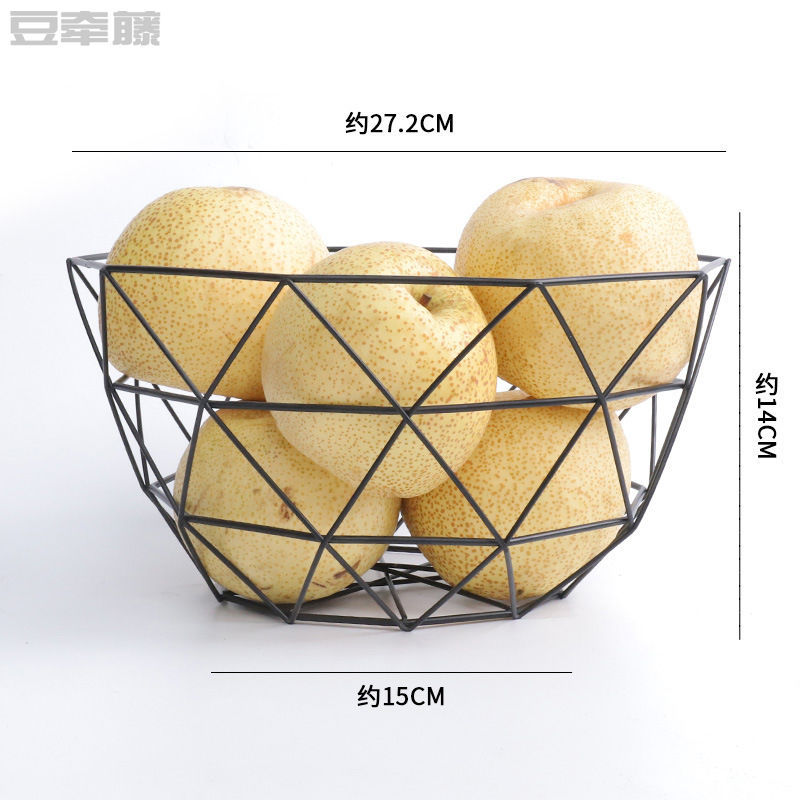 European Style Wrought Iron Fruit Plate for Family Reunions