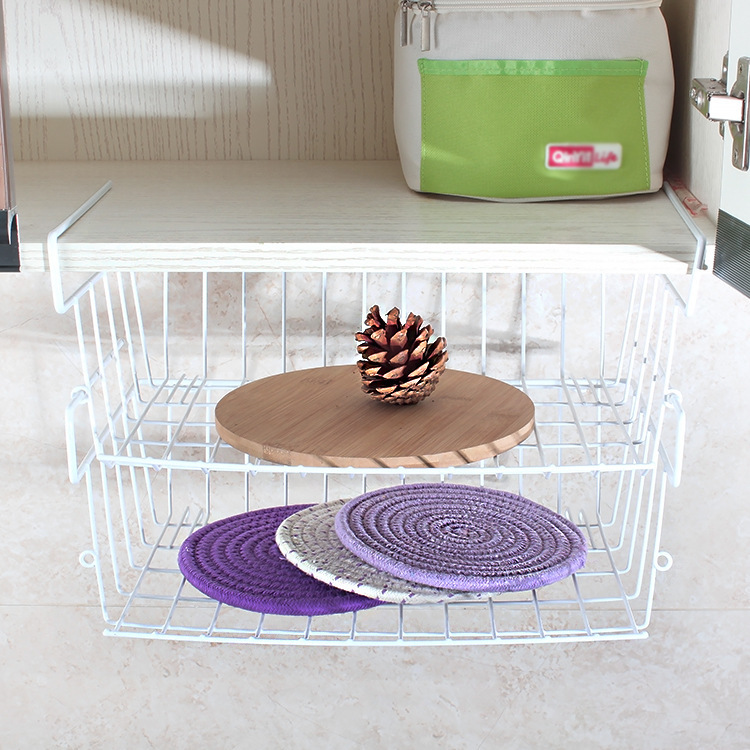 Japanese-Style Wrought Iron Drain Basket for Kitchen Use