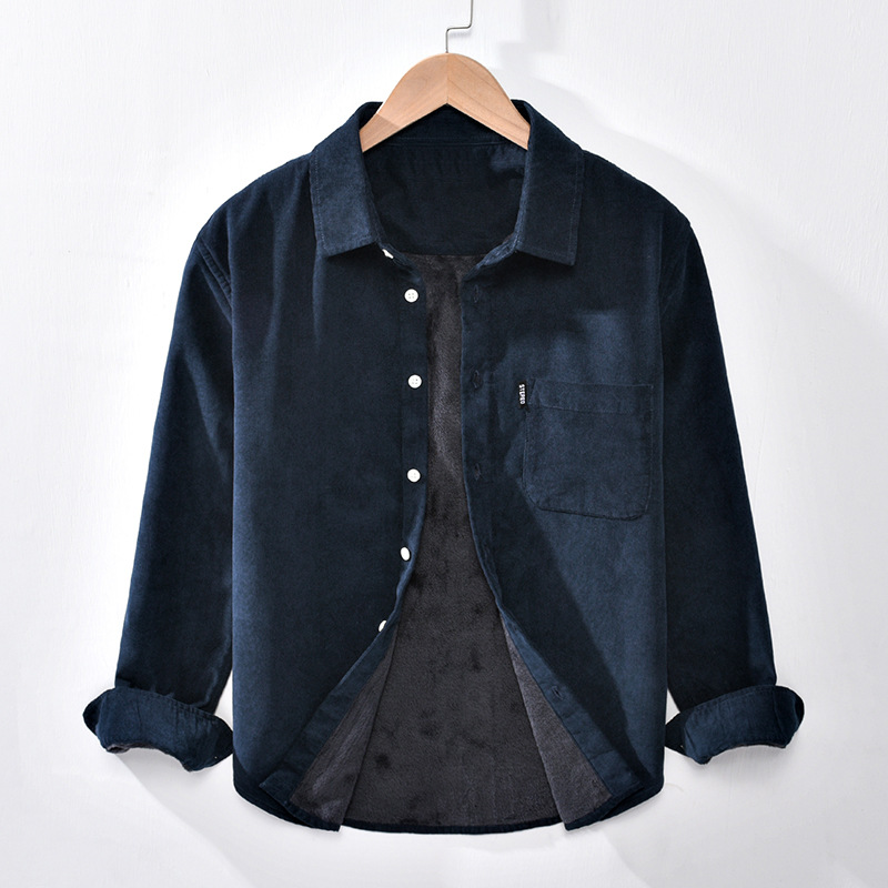 Thick Double Layer Button-Up Jacket for Cold Season