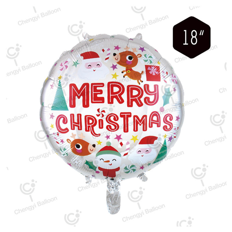 Eye-Catching Christmas-Themed Print Balloons for Hosting a Christmas Party