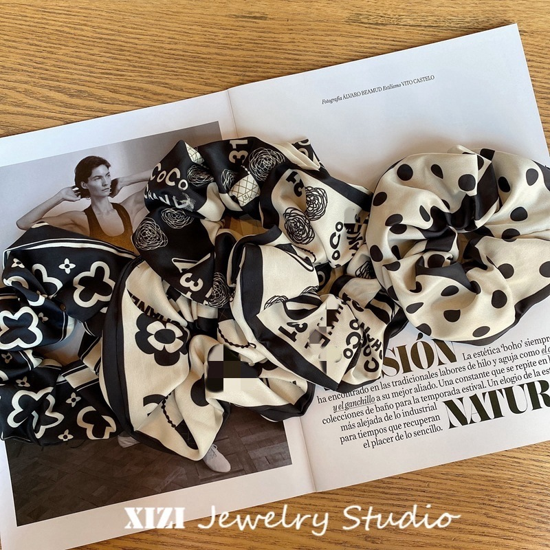 Fashionable High Elastic Printed Scrunchies for Any Occasion