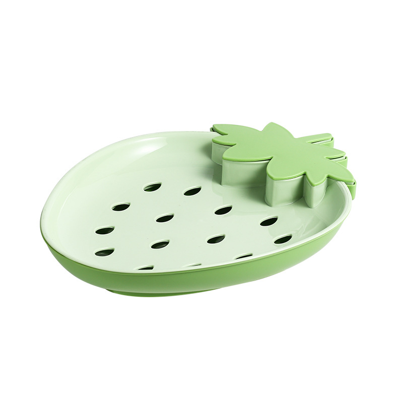 Strawberry-Shaped Drain Basket for Kitchen Use