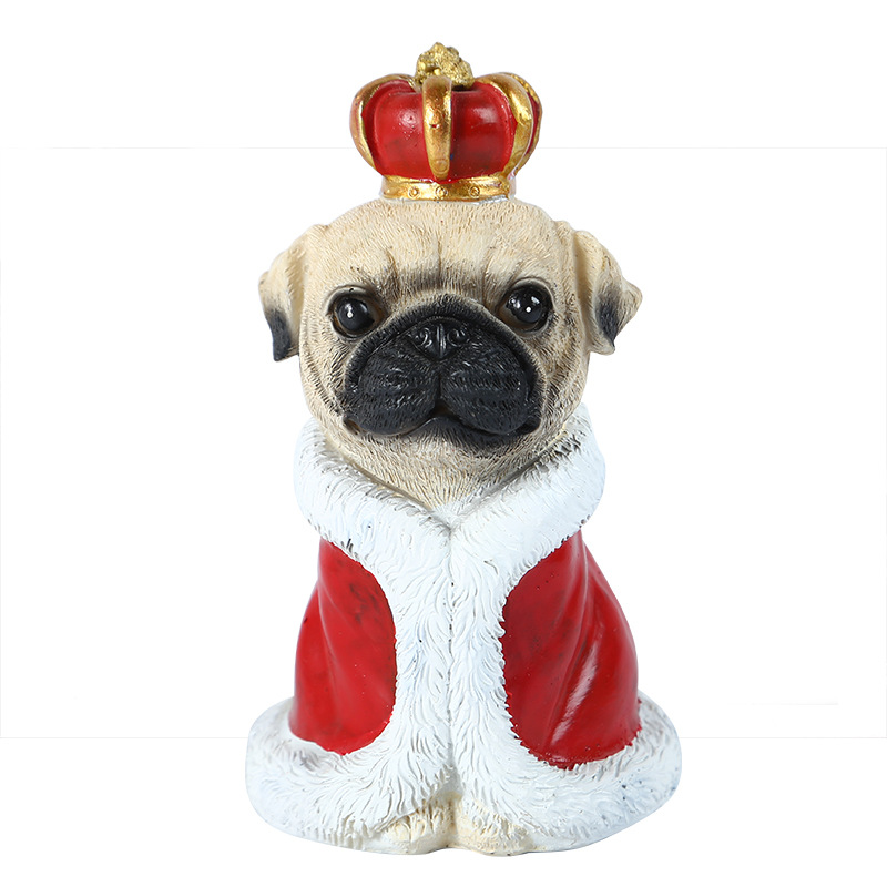 Adorable Resin Puppy  Ornament for Gift
