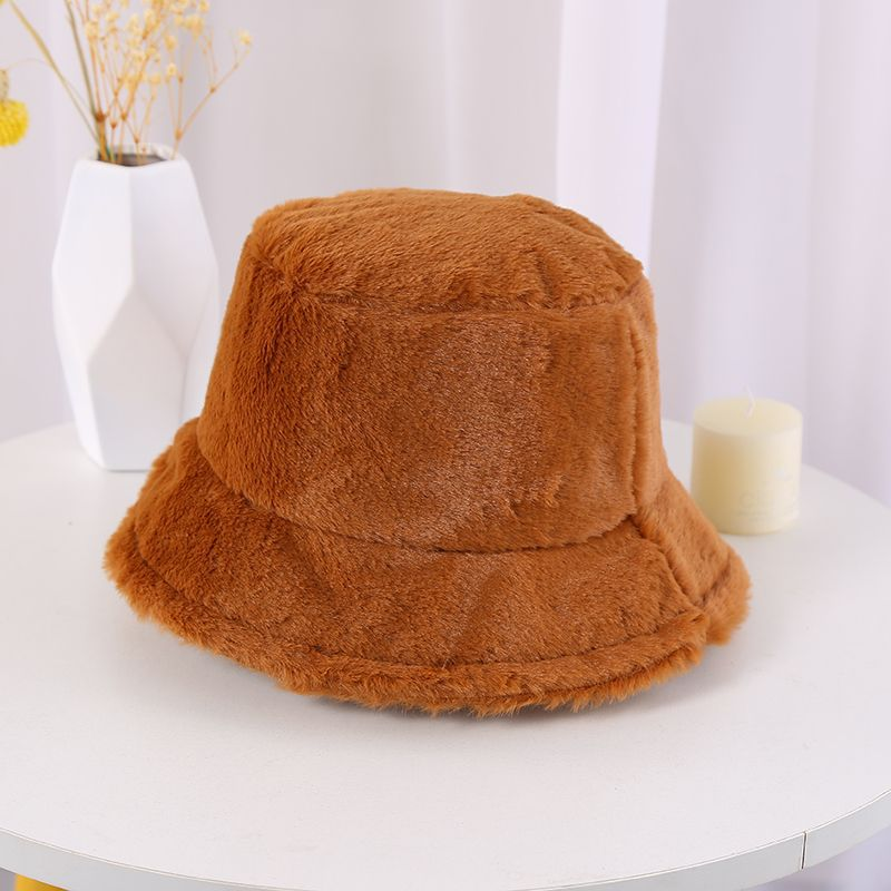 Furry Artificial Wool Iconic Bucket Hats