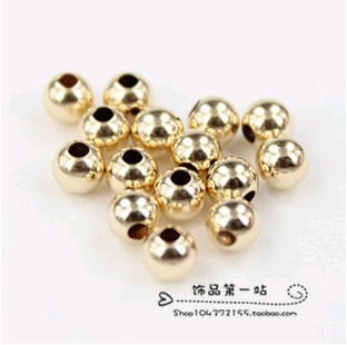 Shiny Gold Color Beads for Do it Yourself Accessories