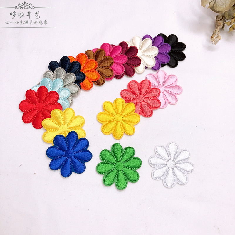 Vibrant Solid Color Flower Patch for Summer Outfits