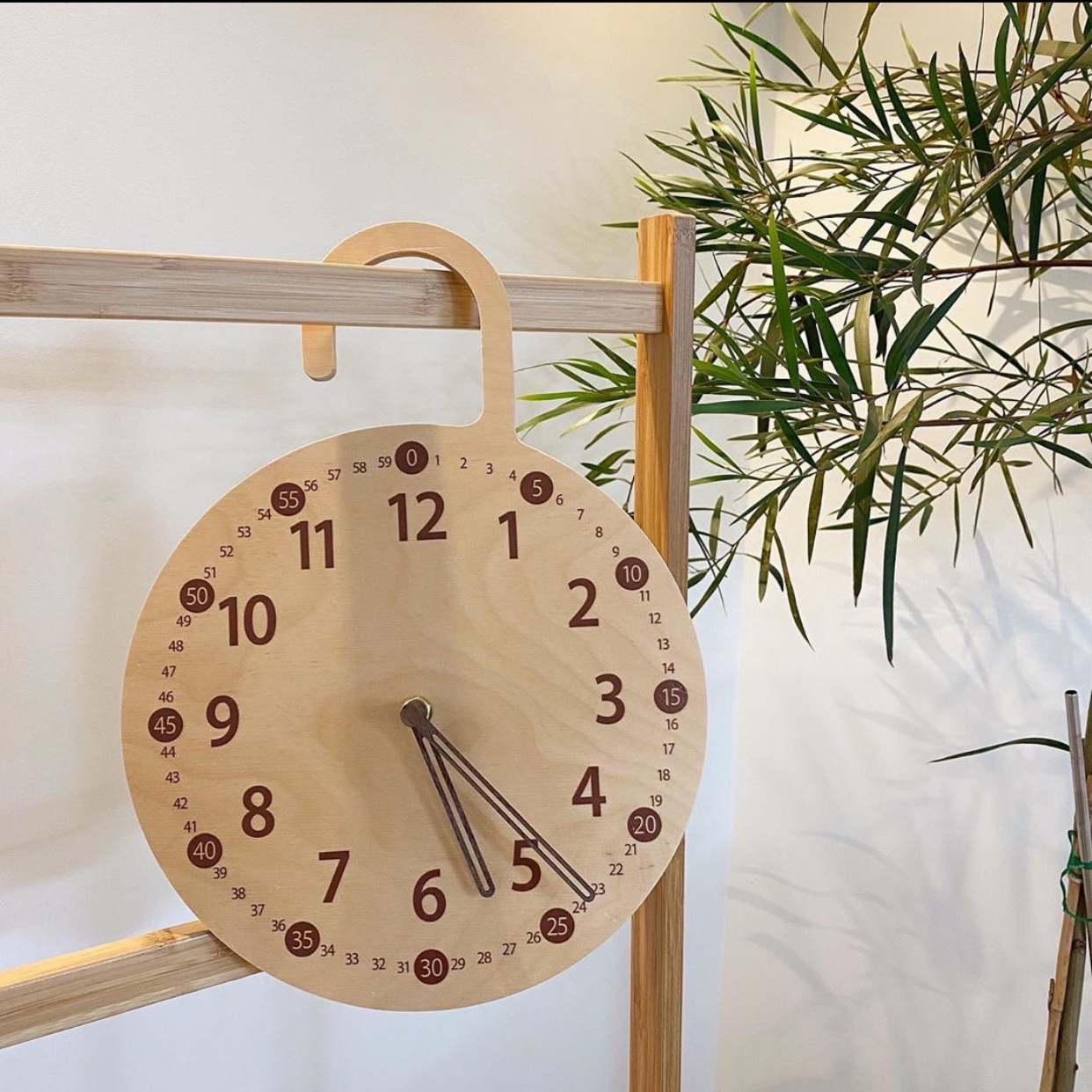Decorative Wooden Hanging Analog Clock for Keeping Track of Time