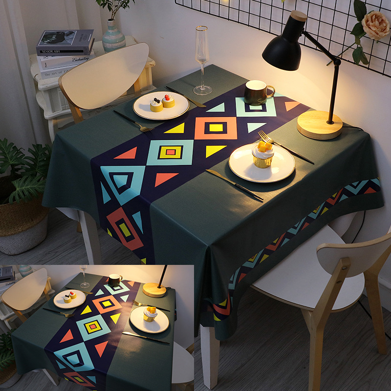 Decorative Printed Tablecloth for Eclectic Home Décor