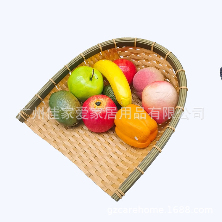 Plastic Faux Bamboo Basket for Fruit Basket and Home Decorations