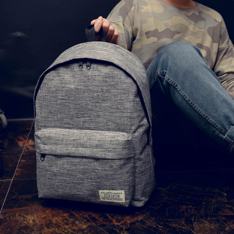 Sturdy and Stylish Backpack with Front Zipper and Hidden Pocket for Daily Use