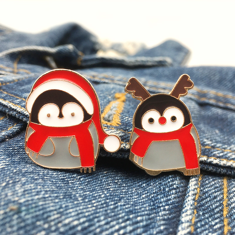 Quirky Penguin Pin for Accessorizing Bags and Wallets