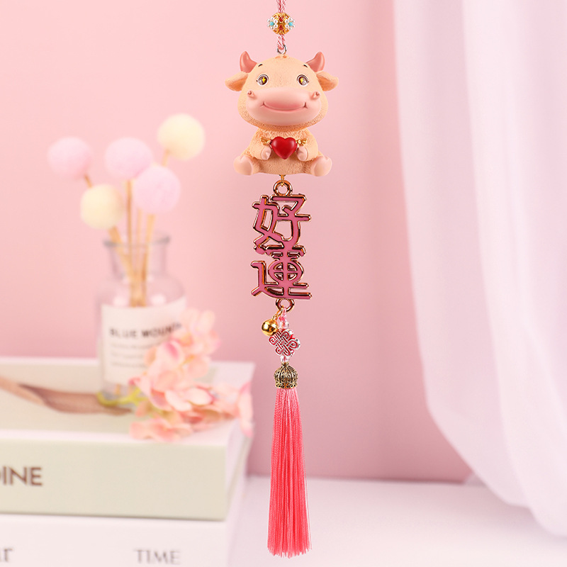 Cute Hanging Ox Ornament for Chinese New Year