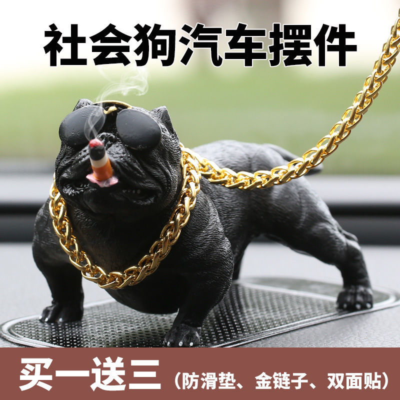 Creative Realistic Resin Dog Ornament for Cars