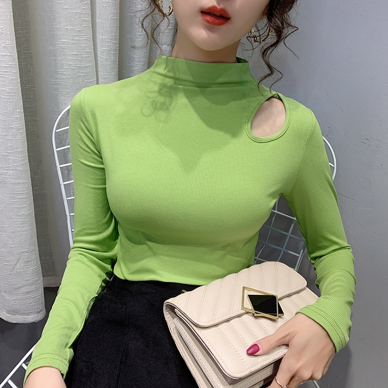 Eye-Catching Shirt with Hollow Shoulder for Fancy Appointments