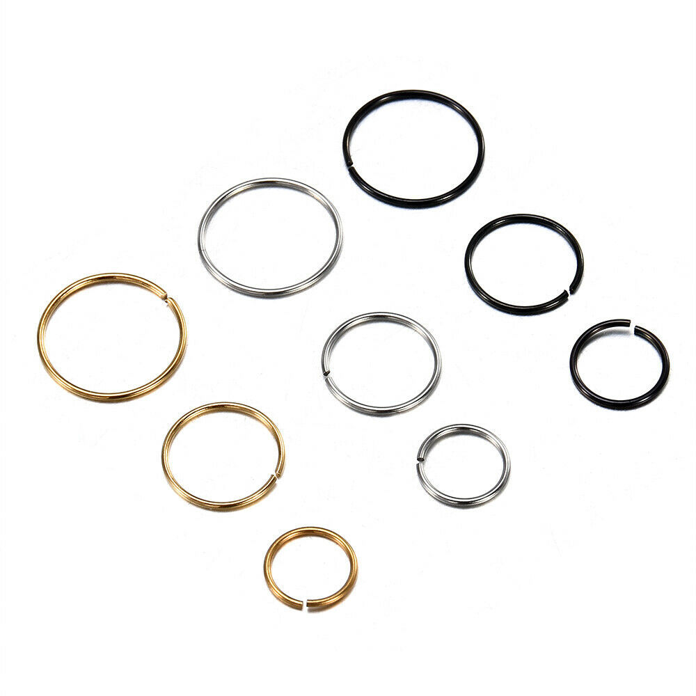 Classy Stainless Steel Circle Nose Piercing for Casual Outing