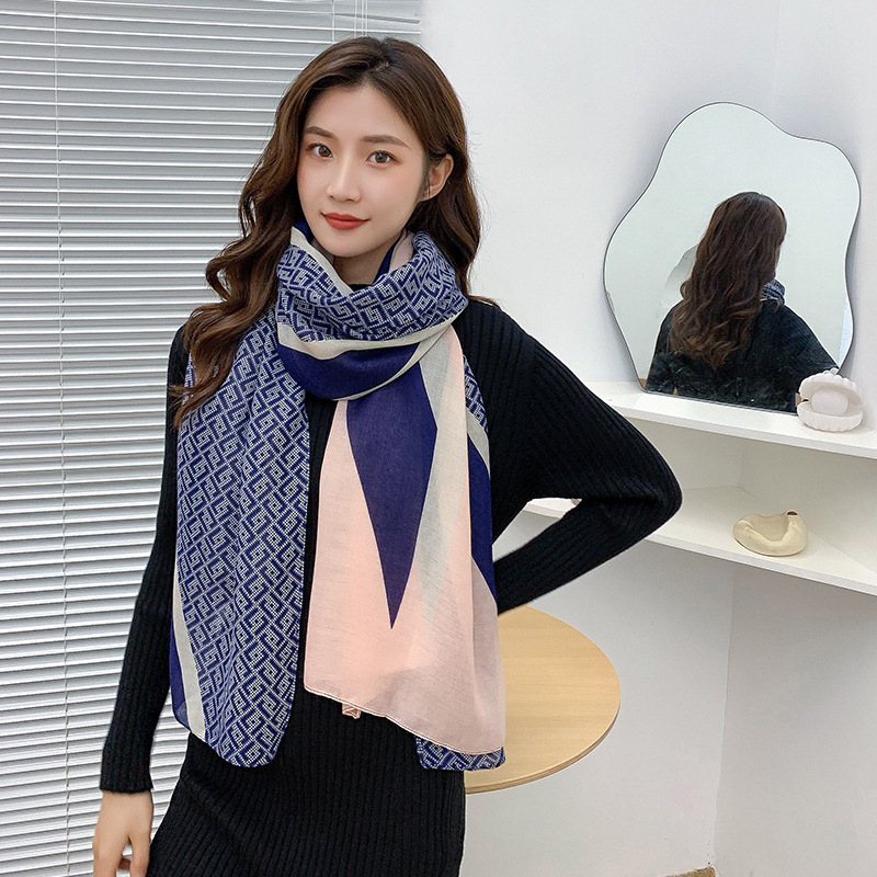 Geometric Print Scarves for Fashionable Looks