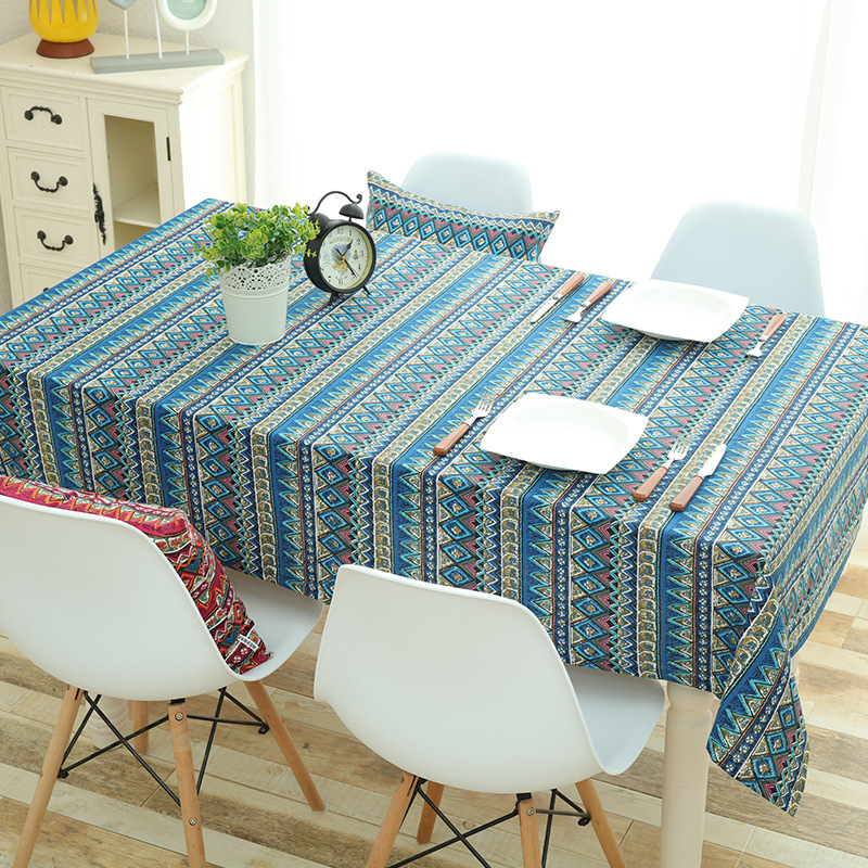 Retro Patterns Tablecloth for Balcony