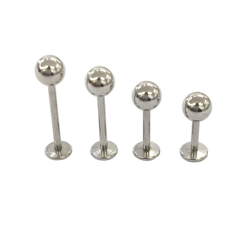 Simple Stainless Steel Labret Stud Piercing Jewelry for Basic Piercing Looks