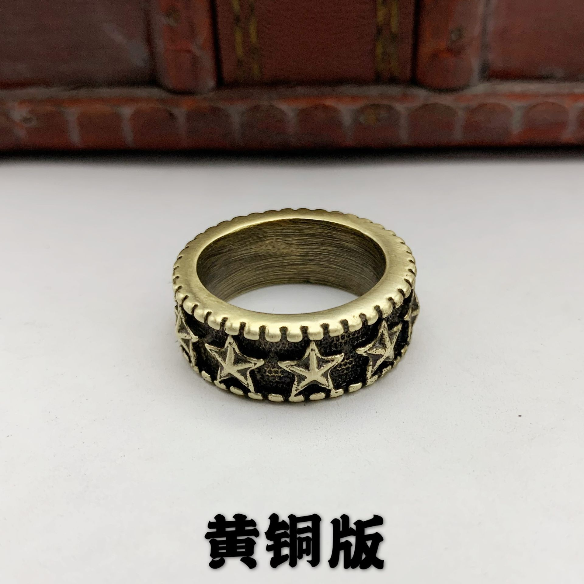 Retro Five Star Ring for Vintage Style Fashion Aesthetics