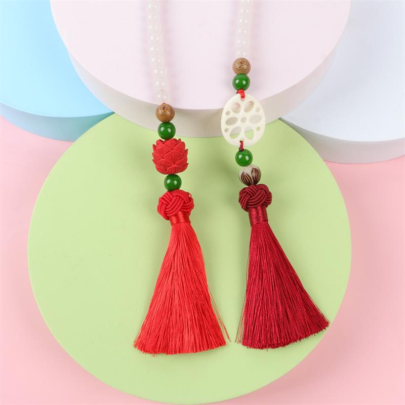 Safe and Fresh Hanging Tassel Pendant for Car Rearview Mirror Decoration