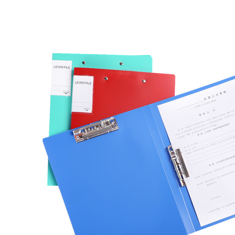Portable Document Storage with Vertical and Horizontal Clips for Binding Papers Temporarily