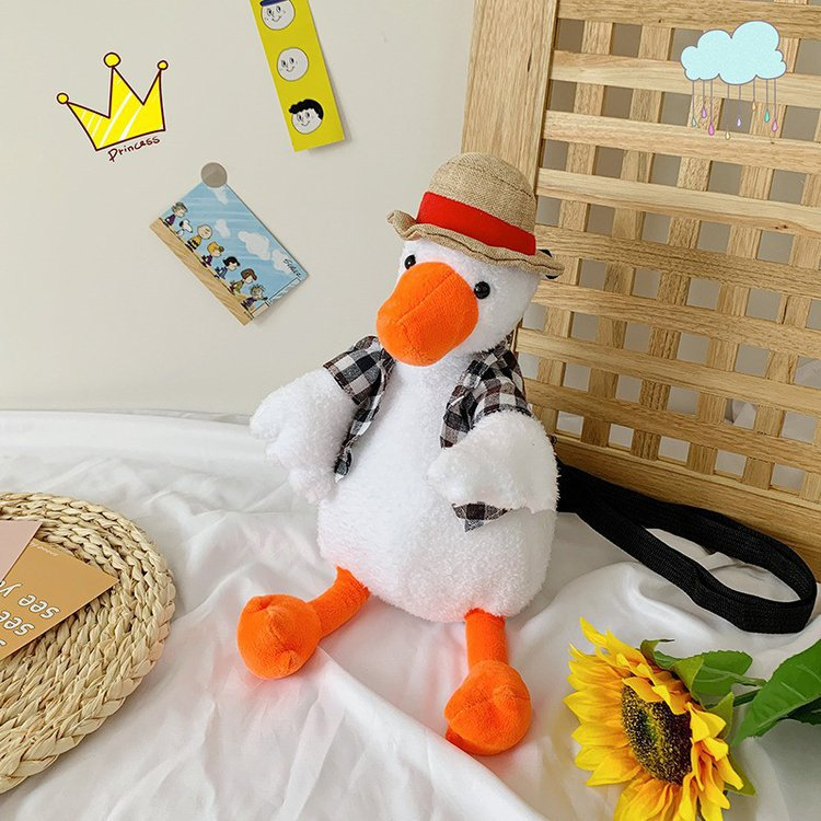 Charming Duckie Plush Toy Bag for Quirky Outfits
