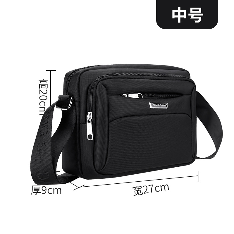 Men's Smart Casual Business Black Shoulder Bag with Multiple Sizes for  Casual Days at the Office