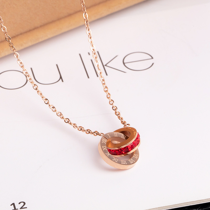 Small and Elegant Titanium Steel Necklace for Couple's Anniversary Gift