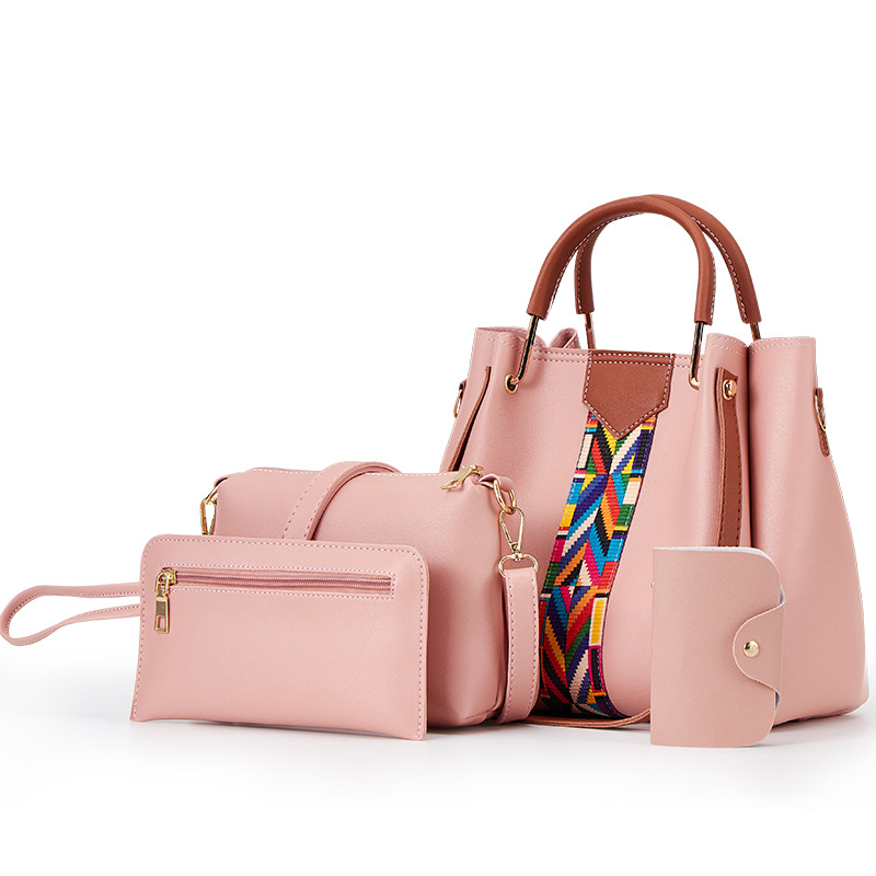 Eye-Catching Faux Leather Bag Set for Out-of-Town Outfit