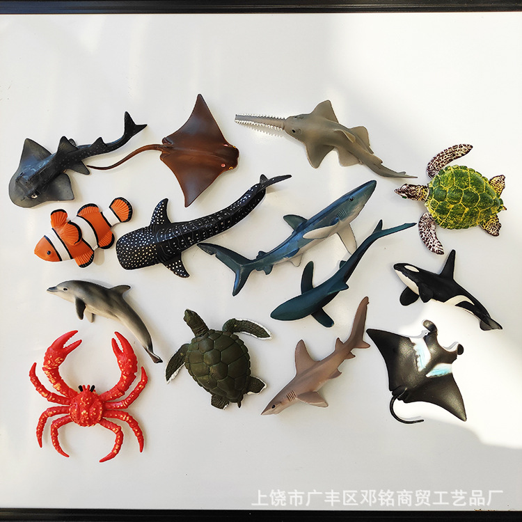 Three-Dimensional Ocean Animal Magnet for Pinning Notes