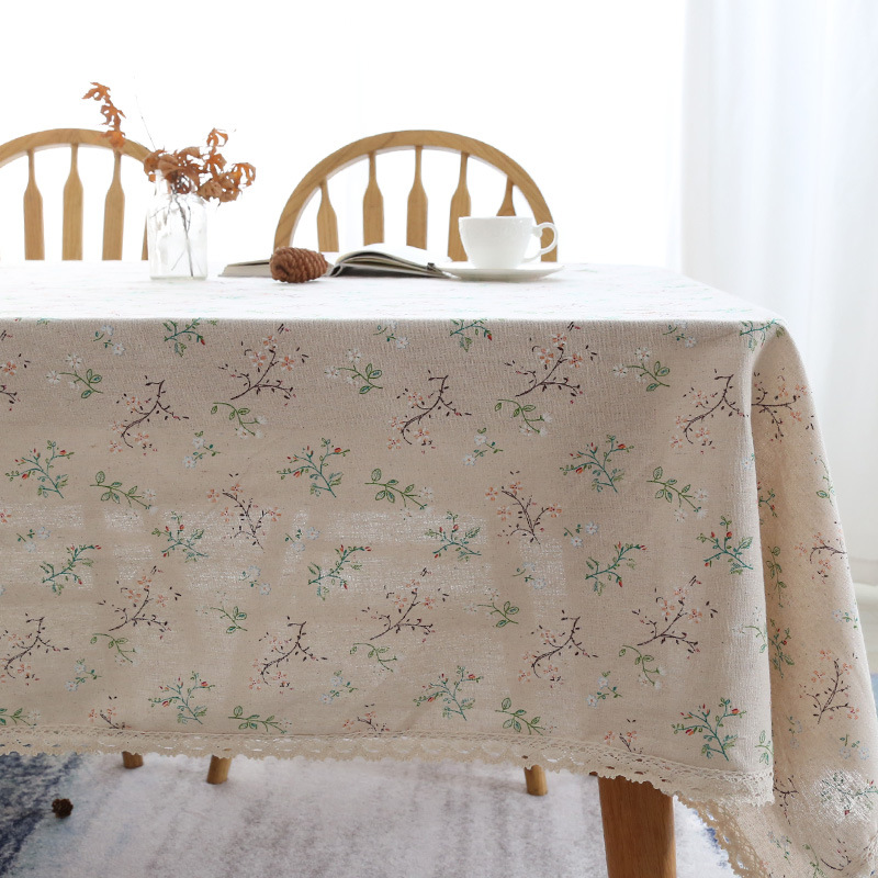 Little Floral Prints Tablecloth for Dining Table