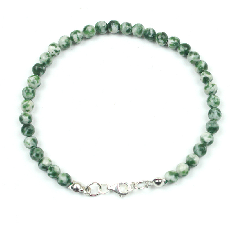 Speckled Green Stone Charm Bracelets for Matching Friends