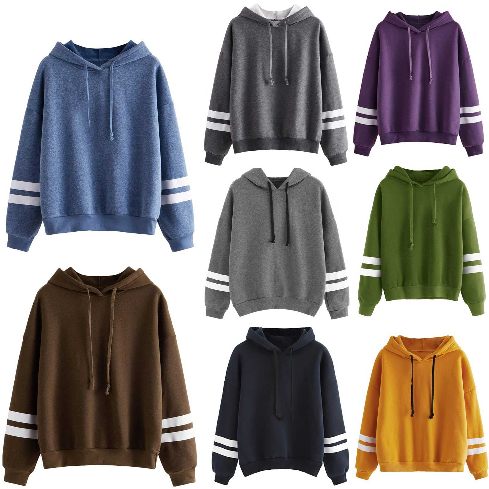 Basic Comfortable Hoodie for Lounging During Autumn
