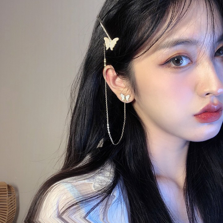 Comely Asymmetrical Earrings for Matching with Blouse