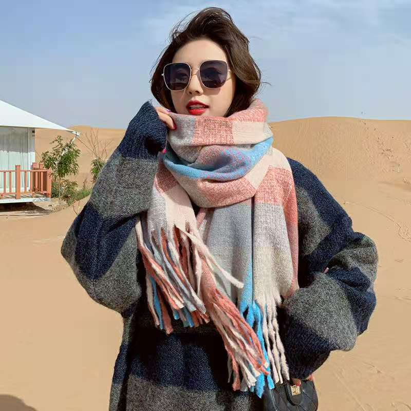 Multipurpose Polyester Fiber Cashmere Shawl for Stormy Weather