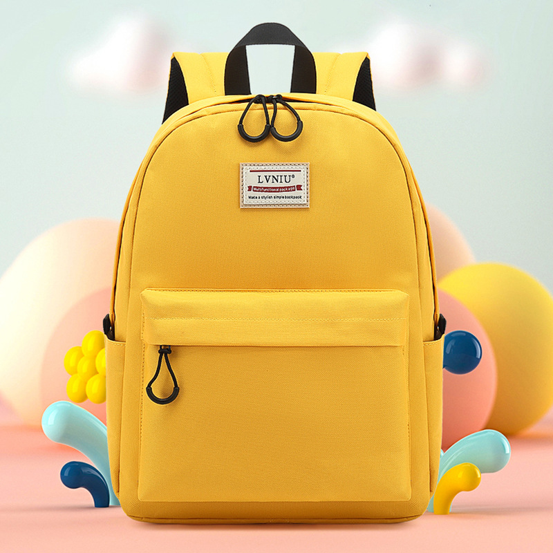 Marvelous Solid-Colored School Bag for Daily School Essentials
